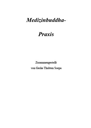 Medizinbuddha Praxis